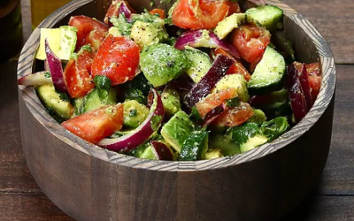 Best Summer Salad EVER (Cucumber, Tomato, Avocado)