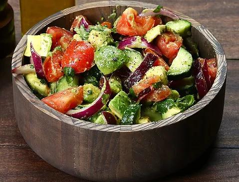 Best Summer Salad EVER (Cucumber, Tomato, Avocado)